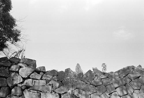 Broken stone wall