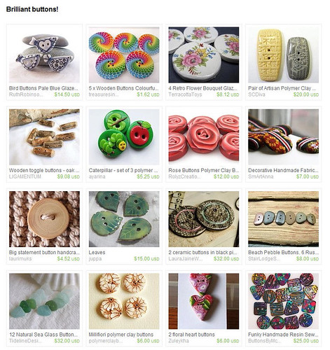 Brilliant Buttons Treasury by PatsParaphernalia | by Lynda Moseley Diva Designs Inc