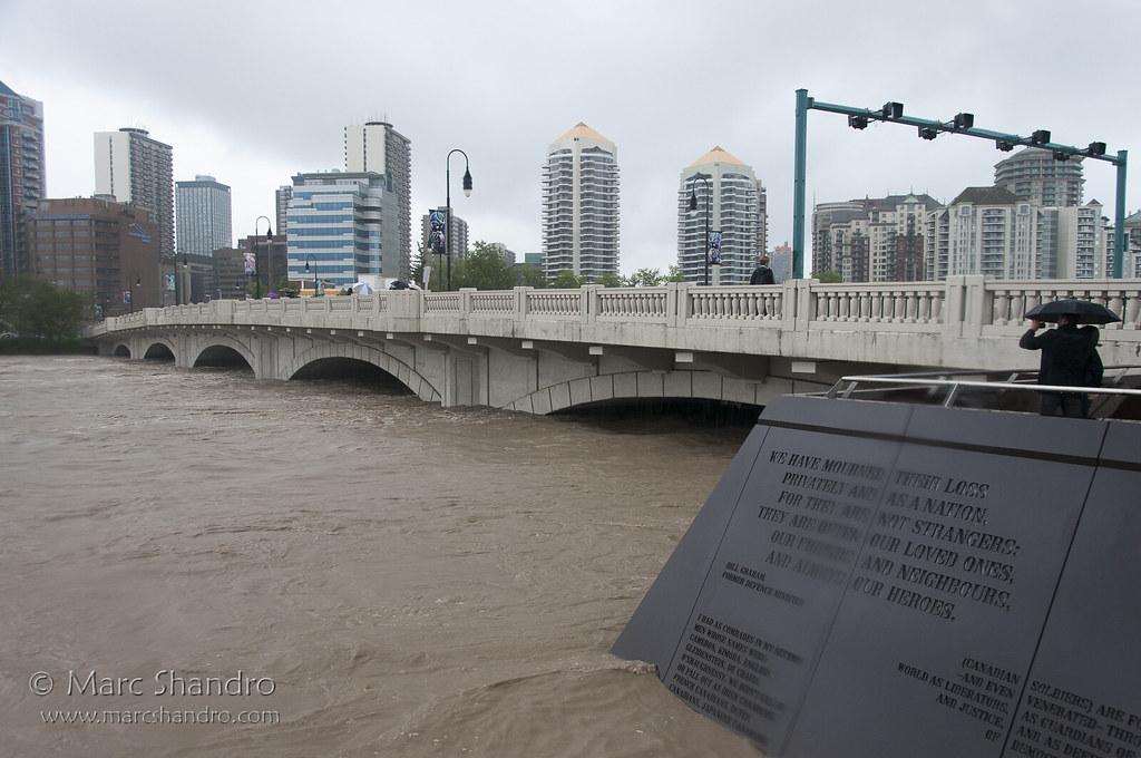 Bridges 2013 calgary flood 2013 10th street bridge by marc shandro fandeluxe Images