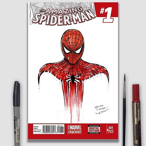 Book Cover Illustration Fee : Spider man comic book cover illustration spidey comics
