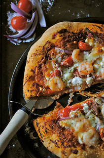 Shrimp and Goat Cheese Pizza | by How To: Simplify