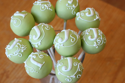 Custom Monogram Cake Pops | by Sweet Lauren Cakes