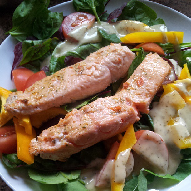Salmon stakes 2:50 off of The Aldi  Post ride #nrgfuel | Flickr