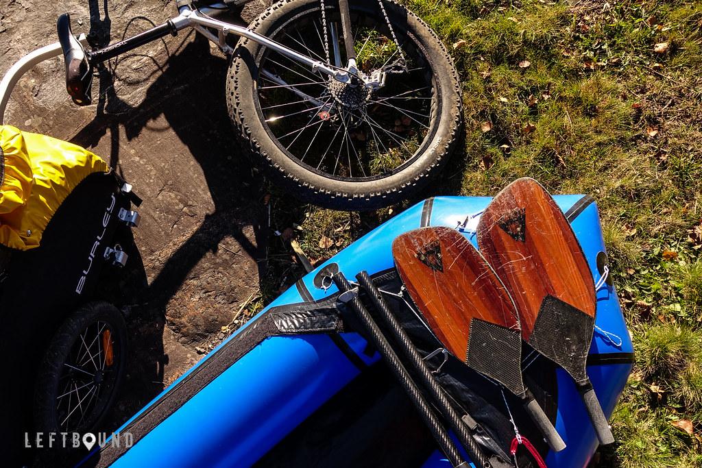 Packraft, bike and paddle