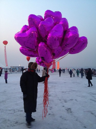selling balloons on the Ice lake | by Bobi-home