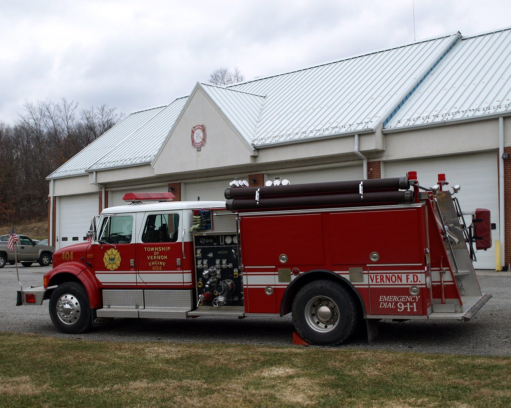 New jersey sussex county vernon -  Pierce International Fire Engine 404 Vernon Township Sussex County New Jersey By