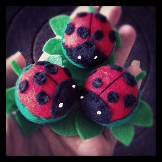 And still they come. #pincushions #ladybirds | by Spincushions