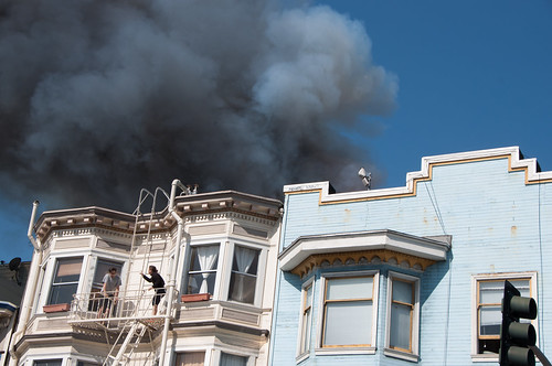 SFFD fights four alarm fire on Valencia at Duboce in San Francisco-0989 | by Steve Rhodes