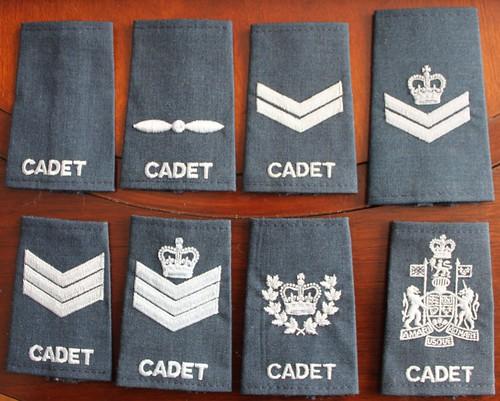 Canadian Air Cadet Rank Epaulettes Ranks | Cadet, Leading ...