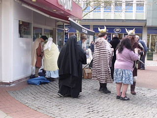 Mell Square, Solihull - people in costume - Vikings, nuns etc | by ell brown