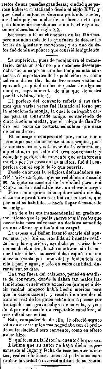 El Motín (Madrid). 30/1/1890, n.º 4, página 2.