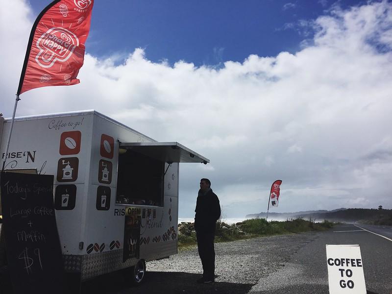 Roadside/beachside coffee cart with soymilk!