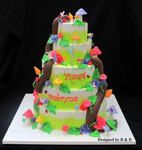Tinkerbell baby shower cake | by Daria ...