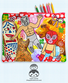FLORA_CHANG_SummerFleaMarketZipperPouch_1A_WEEK5 | by Flora Chang | Happy Doodle Land
