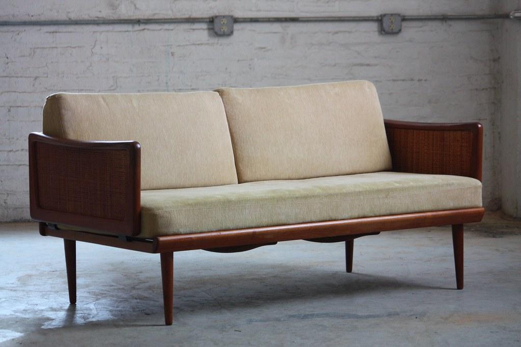 Exceptionnel ... Brilliant Peter Hvidt Danish Mid Century Modern Teak Convertible Sofa  Daybed For France U0026 Sons Model
