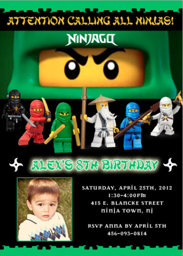 Lego Ninjago Lloyd Garmadon Green Ninja Custom Birthday I