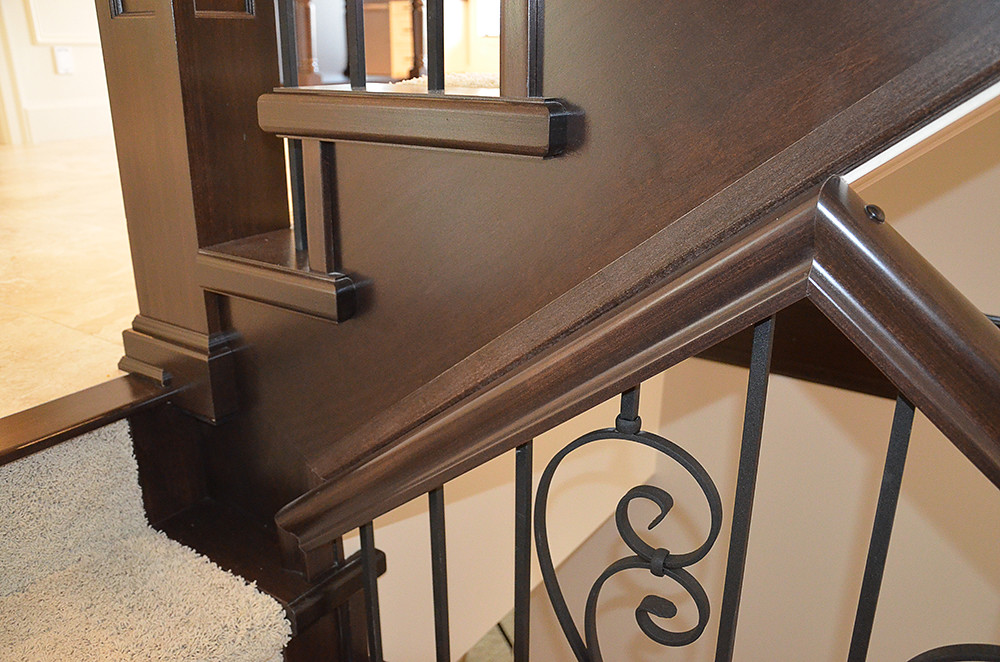 By Nucasa Stair Railing Installation Detail In An Open Staircase Design. |  By Nucasa