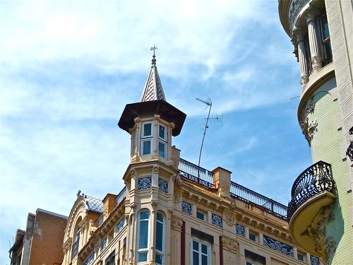 Edificios modernistas arquitectura ecl ctica en la calle for Arquitectura eclectica