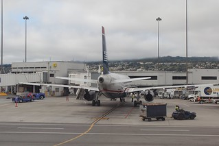 US Airways A-321, San Francisco Airport (SFO) | by peckrob