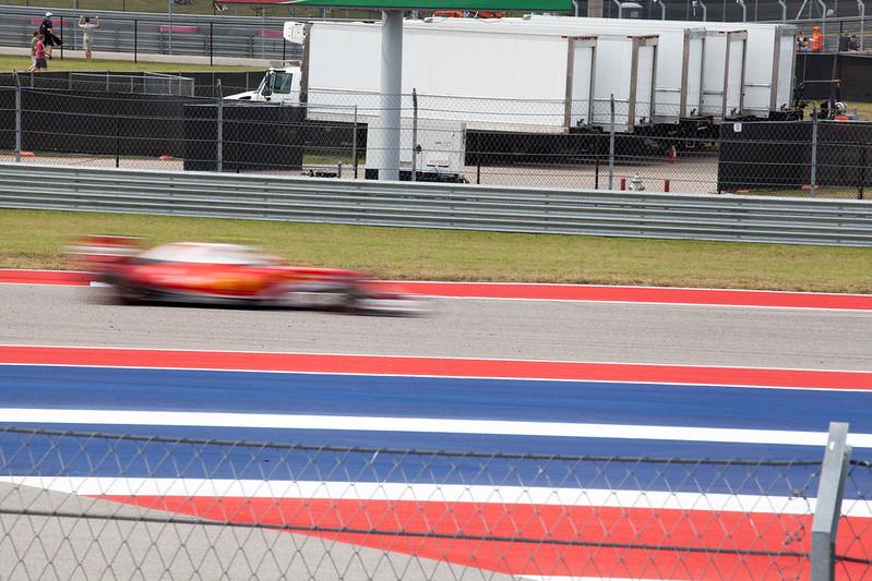 Ferrari zooms by