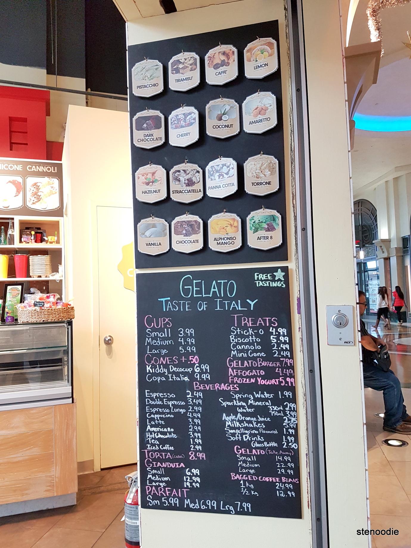 Il Gelato di Carlotta gelato flavours