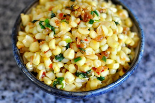 Bap Xao Tom Bo (Vietnamese Sauteed Corn with Dried Shrimp, Scallions, and Butter) | by Cathy Chaplin | GastronomyBlog.com