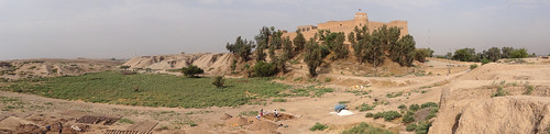 Panorama of Palace of Darius the Great - With Chateau de Morgan Castle - Shush - Southwestern Iran | by Adam Jones, Ph.D. - Global Photo Archive