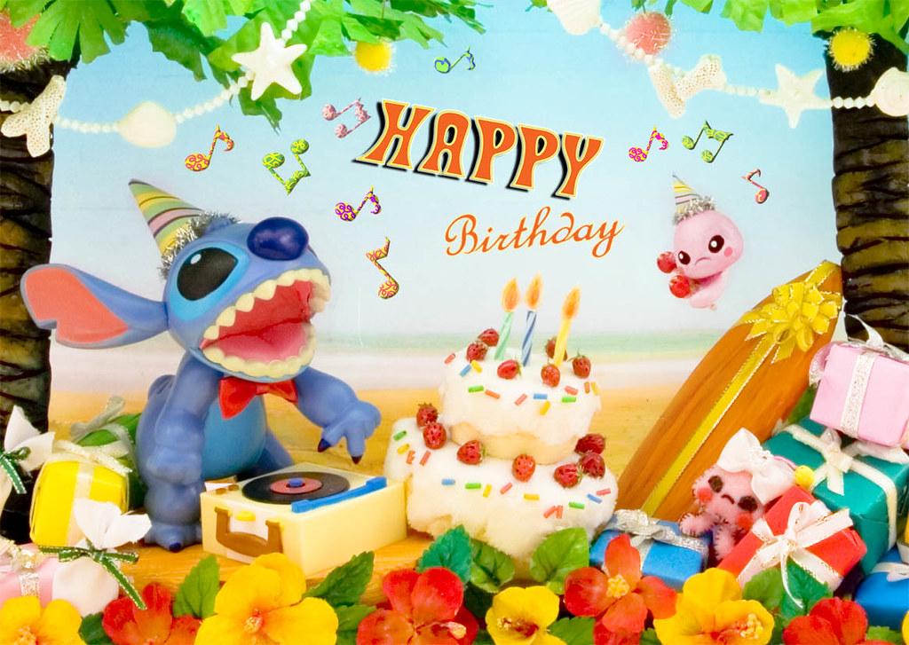 Disney happy birthday stitch 3d lenticular greeting card flickr disney happy birthday stitch 3d lenticular greeting card by miss girlie girl m4hsunfo