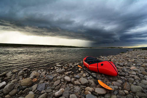 Packraft on the Anaktuvuk River, North Slope, Alaska | by Paxson Woelber