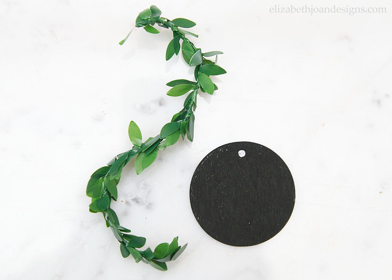 Chalkboard Tag Greenery - paint with chalkboard paint