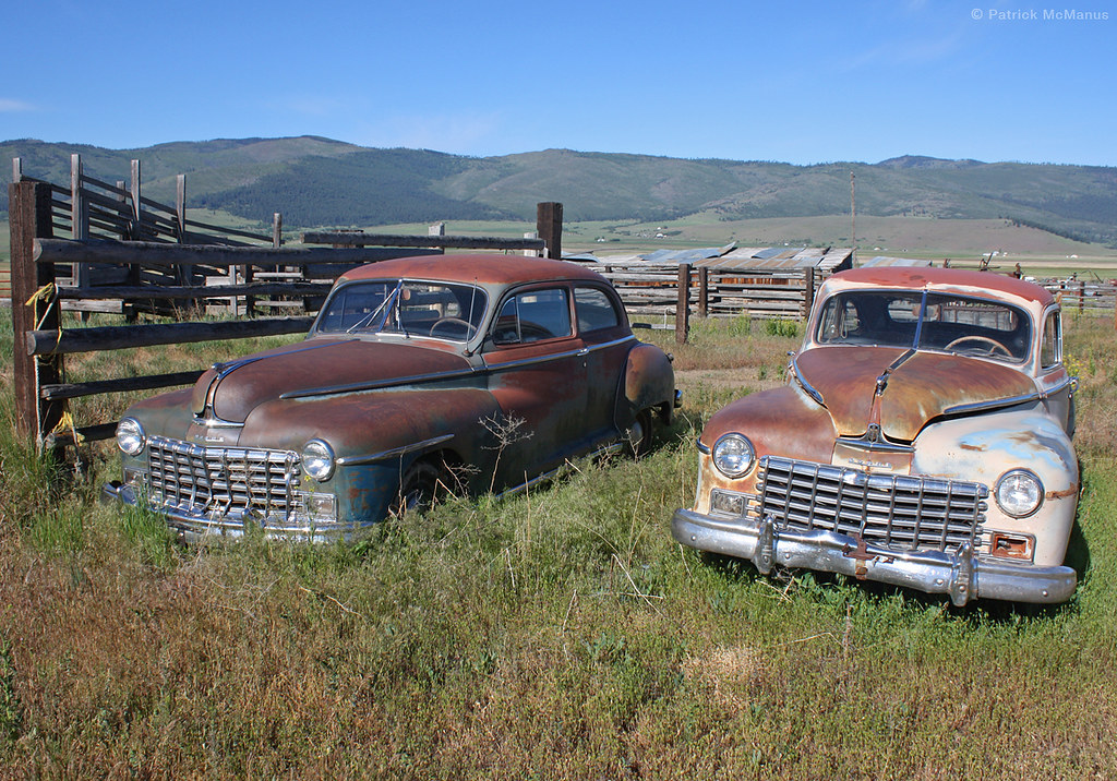 His and Her Junkyard Cars - Montana   Two of a Kind.   Patrick ...