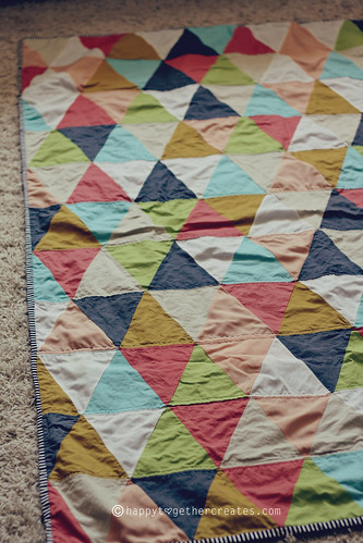 triangle quilt | by ohsohappytogether