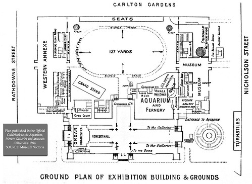 Royal Exhibition Building Site Plan 1894 5 In Series As