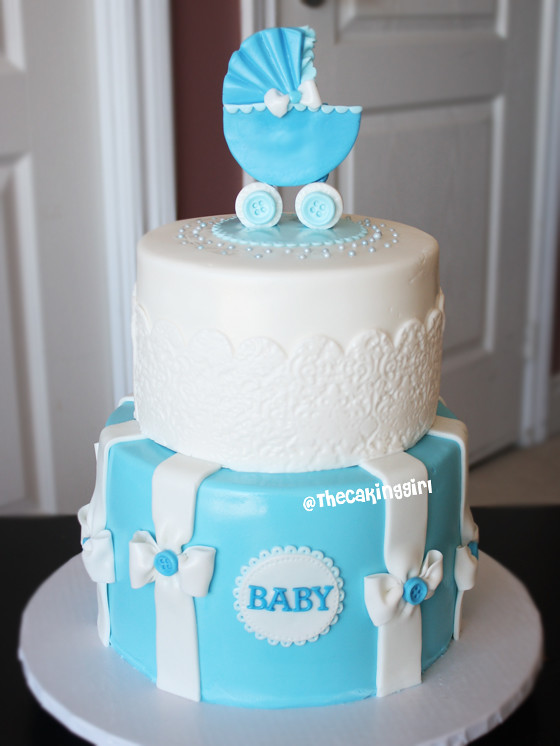 blue baby carriage babyshower cake  visit my blog at .t…  flickr, Baby shower invitation
