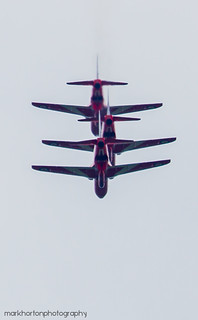 Queen's Jubilee Flypast -  Red Arrows | by markhortonphotography