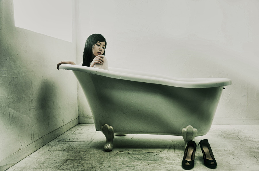 ... Girl In Bathtub | By Bomm Green