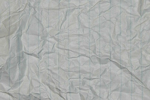 Crumpled Lined Paper Texture | Crumpled lined paper ...