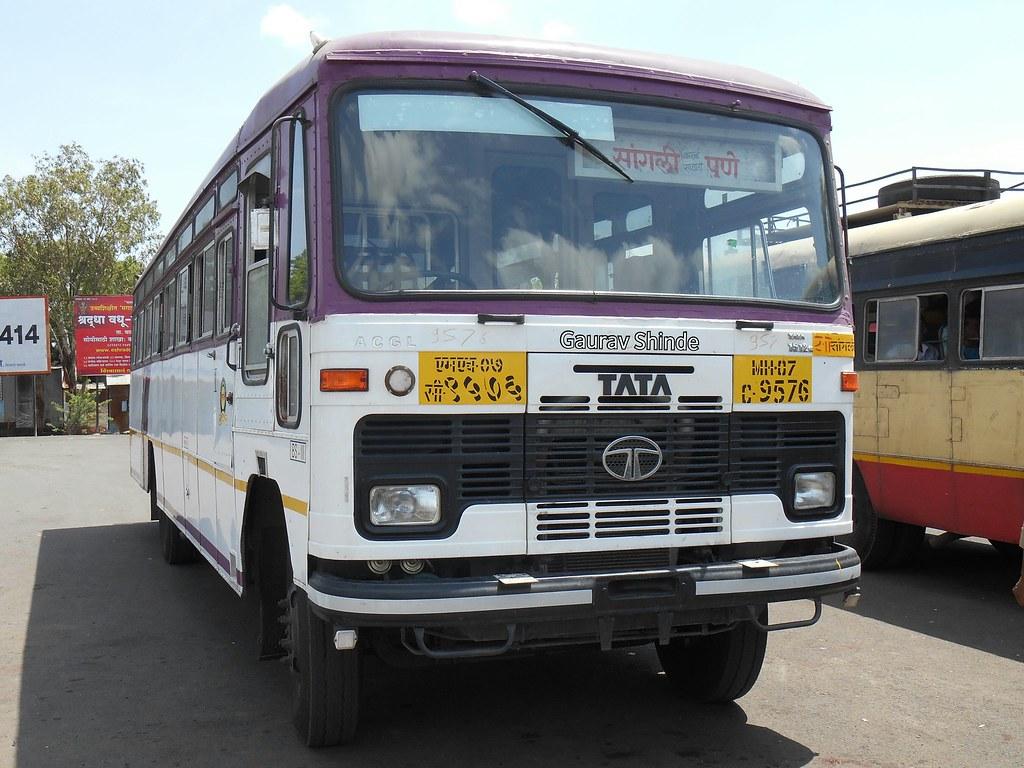 ... MSRTC Hirkani Bus at Ashta bus stand | by Gourav Shinde 94
