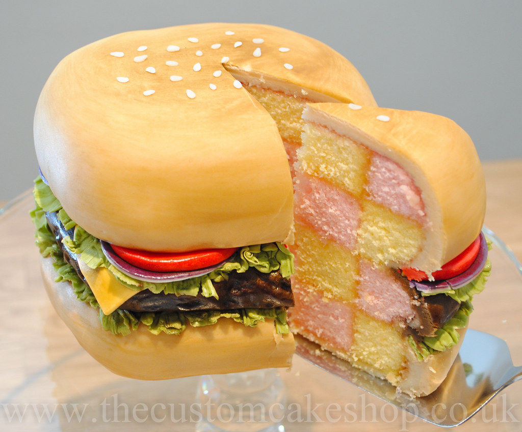 Beef Burger Battenburger Battenberg Birthday Cake Flickr