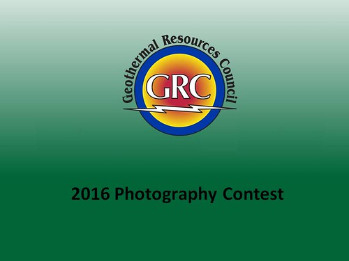 GRC 2016 - 37th Amateur Geothermal Photo Contest