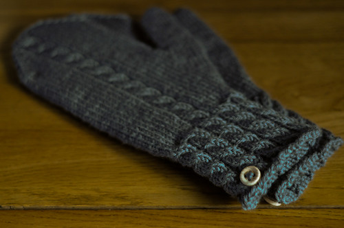 Grey Cable Mittens | by SmurfPop