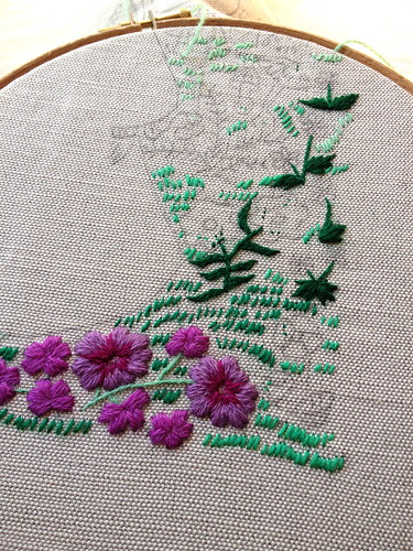 Vasilisa Crewel Embroidery In Progress | by juliezryan