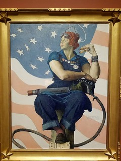 Norman Rockwell, Rosie the Riveter. Crystal Bridges Museum, Arkansas