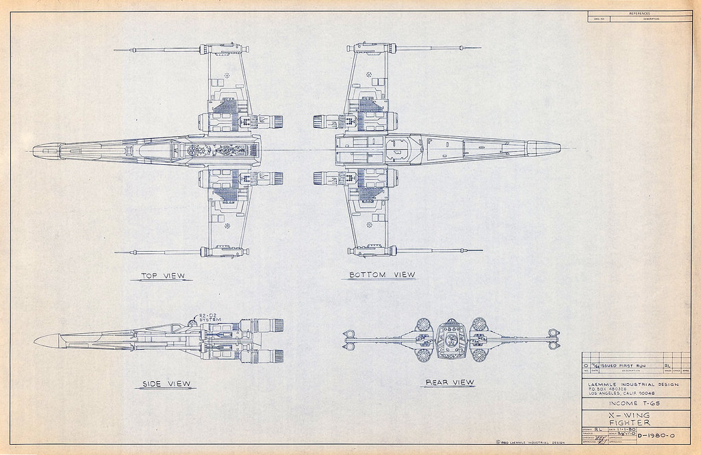 1980 x wing blueprint tom simpson flickr 1980 x wing blueprint by tom simpson malvernweather Images