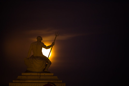 Neptune Watches the Moonrise | by virtualwayfarer