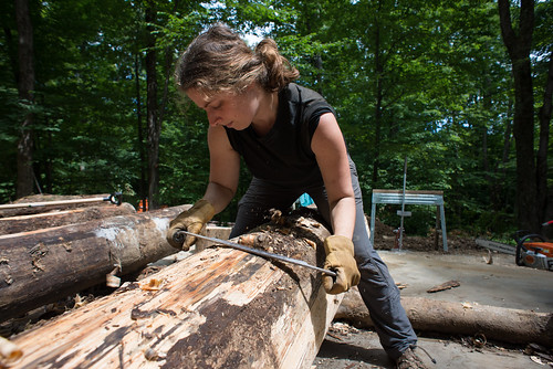 Tara Draw Knife Shaping a Log | by goingslowly