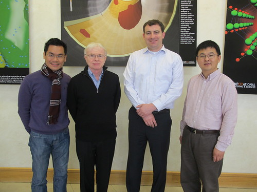 ICES Professors Tan Bui-Thanh, Thomas Hughes, Michael Baldea, Kui Ren | by ICES at UT