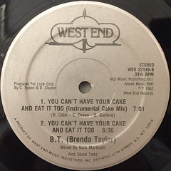 BRENDA TAYLOR:YOU CAN'T HAVE YOUR CAKE AND EAT IT TOO(LABEL SIDE-B)