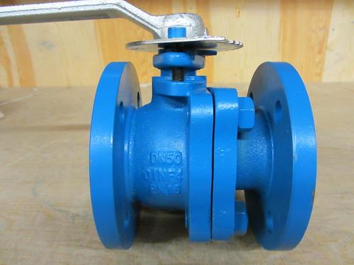 50mm ball valve evb 50mm cast iron 2 piece pn16 lever oper - Vanne a boisseau spherique ...
