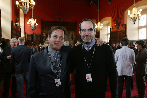 Richmond Arquette and Chad Hartigan at the Edinburgh Castle Reception | by Edinburgh International Film Festival